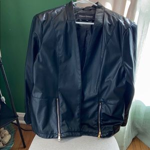 Ashley Stewart Used black faux leather jacket